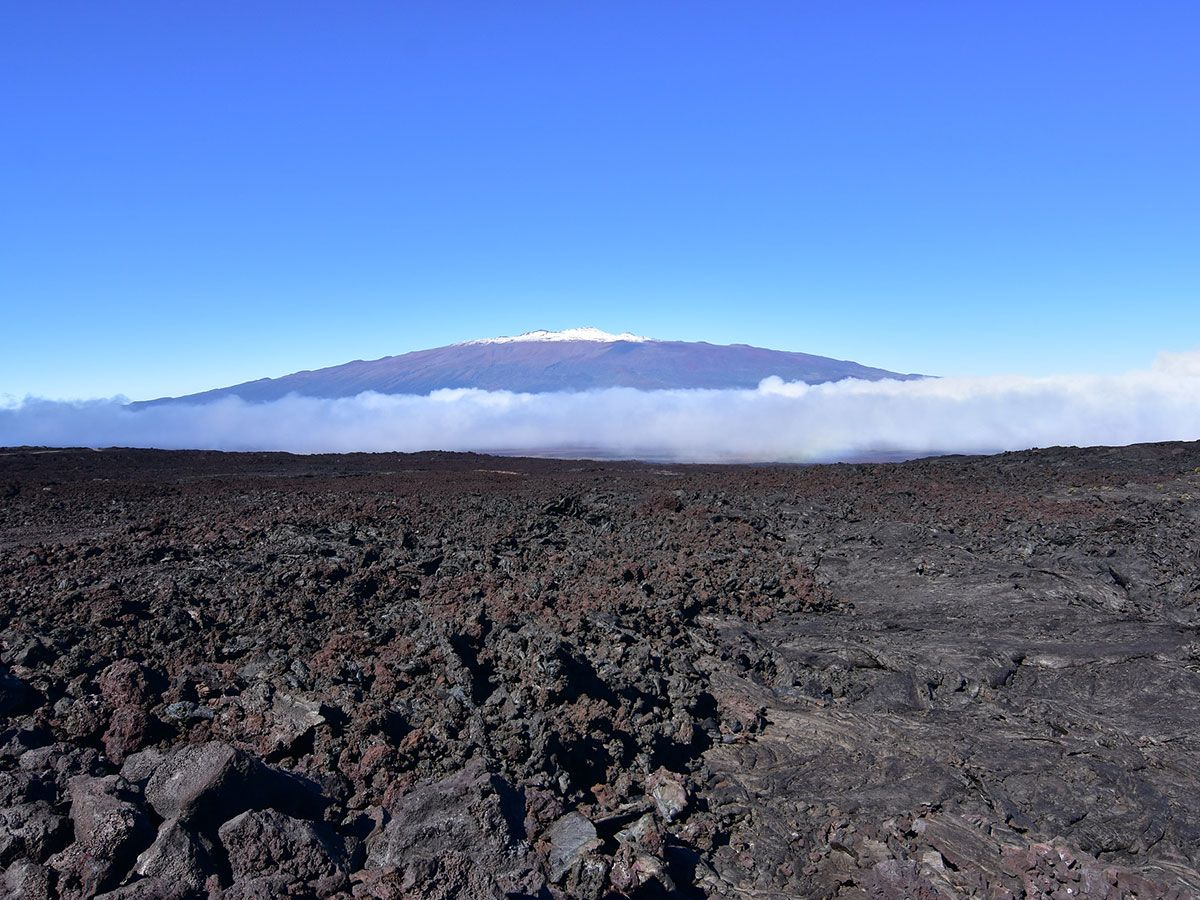Lava fields of Mauna Kea in Hawaii