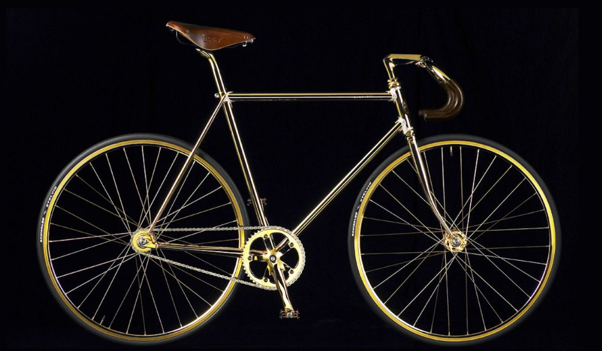 Aurumania Crystal Gold Edition single speed road bike