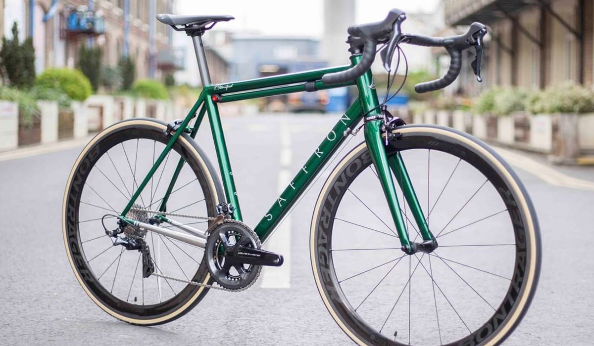 Saffron Frameworks custom cycling road bike