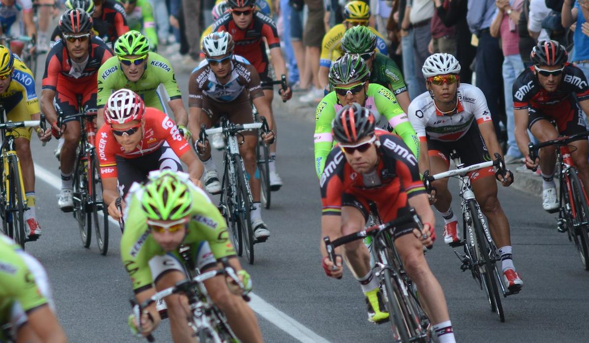 Cadel Evans at the Giro d'Italia