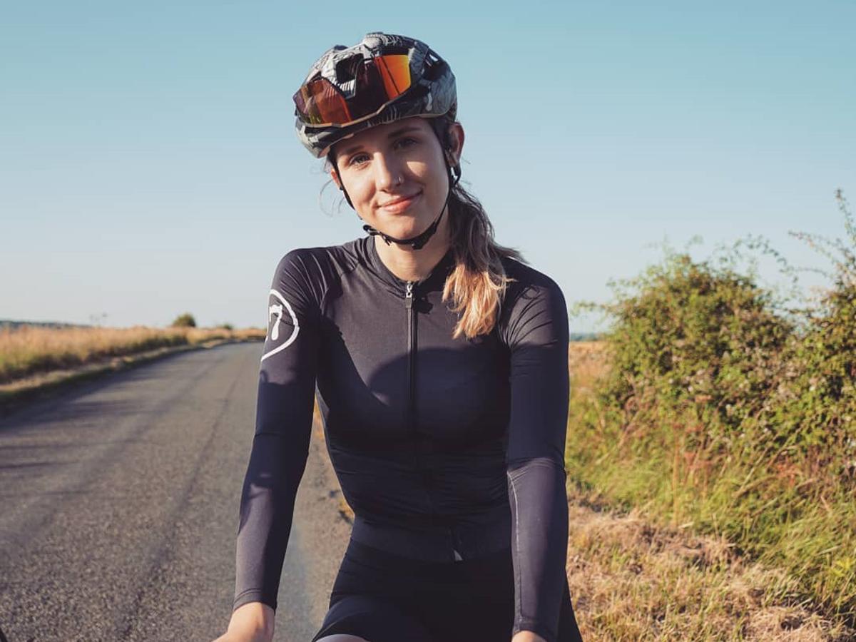 Keira McVitty on a bike