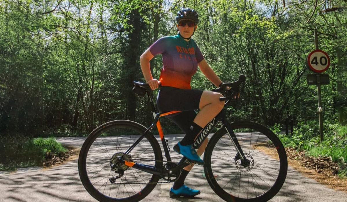 Woman on Wilier road bike
