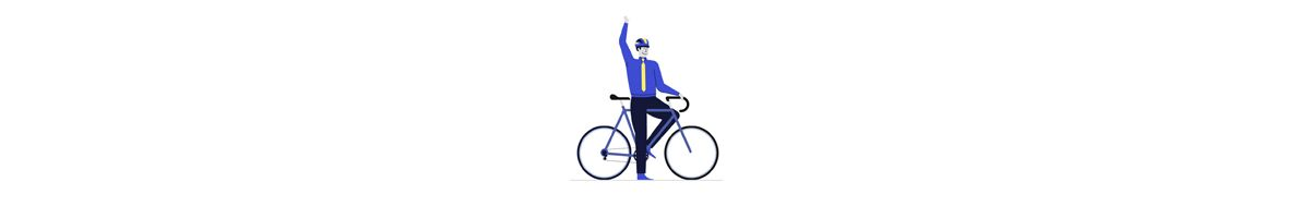 Person on a bike