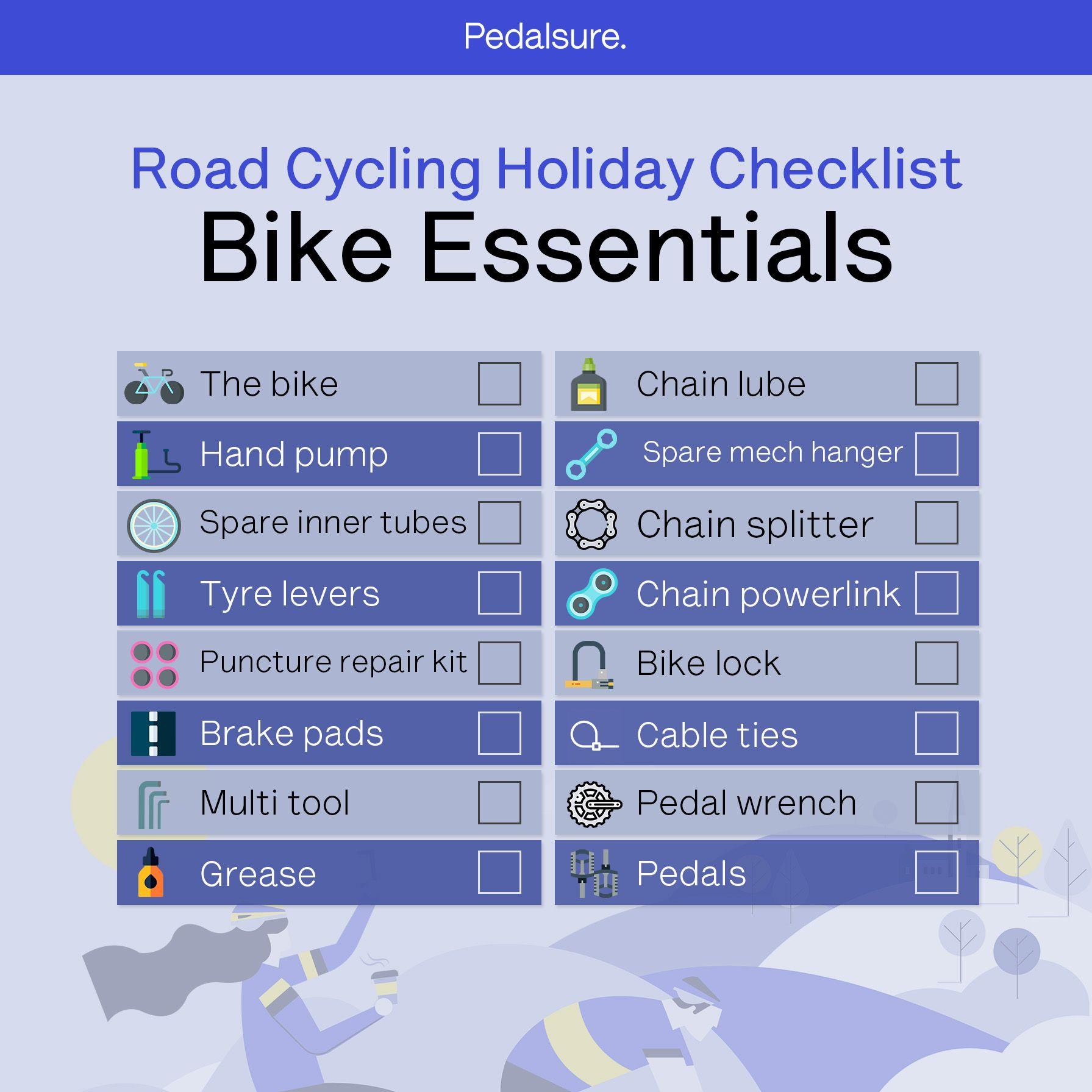Pedalsure bike essentials checklist