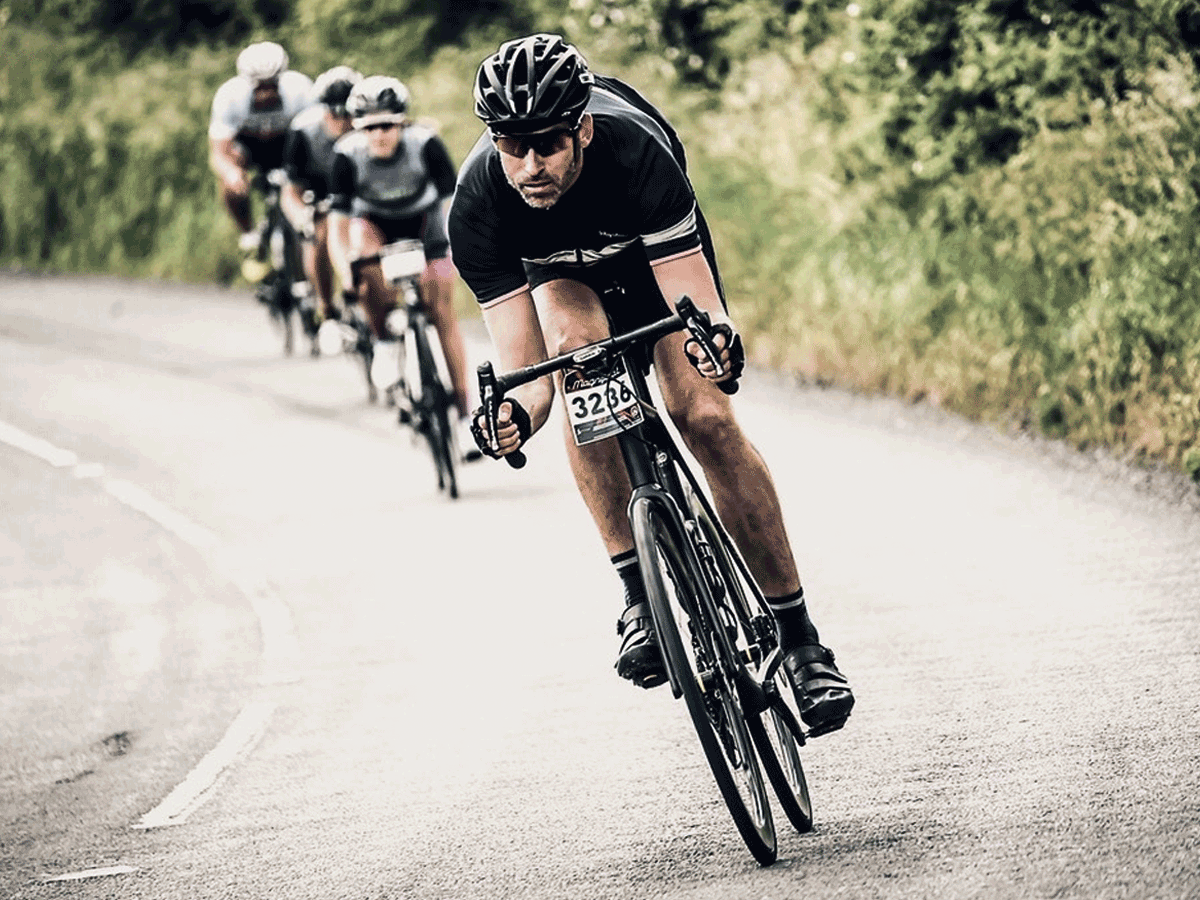Cyclist on sportive