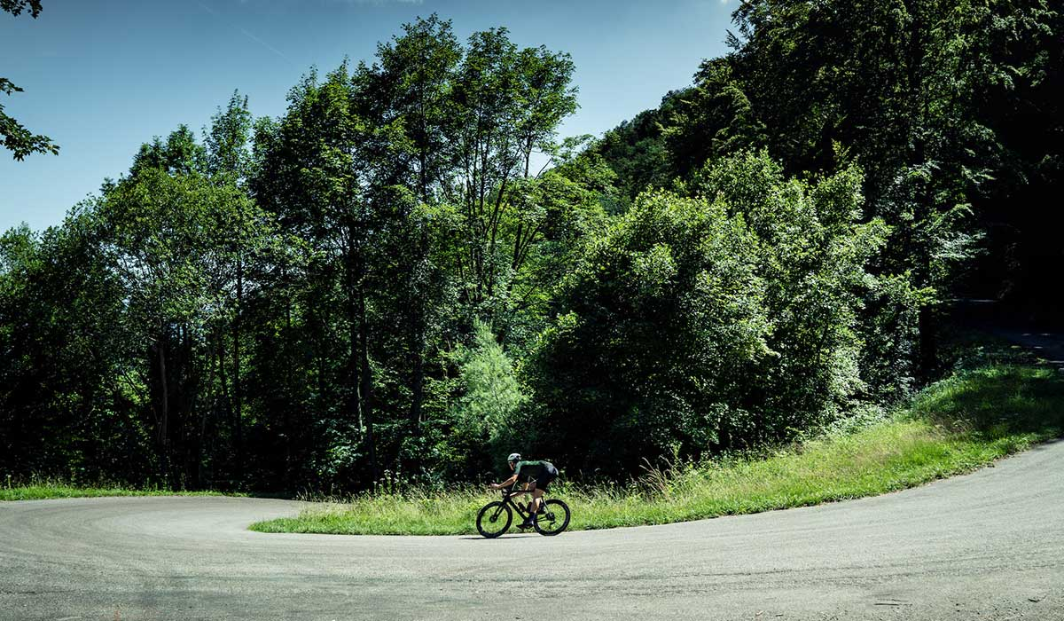 Cyclist corner Grand Colombier France