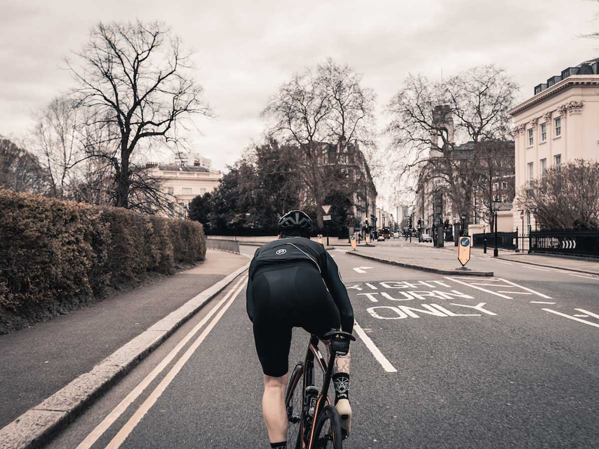 Cyclist in Regents Park London