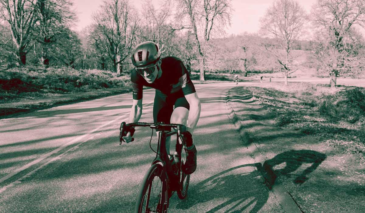 Cyclist in Richmond Park london